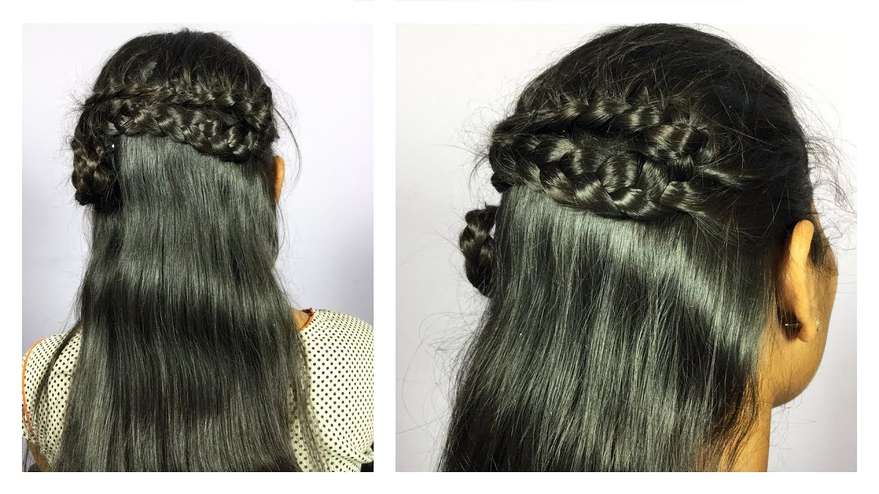 Hair Style For Open Hair Hairstyle For Frock Step By Step
