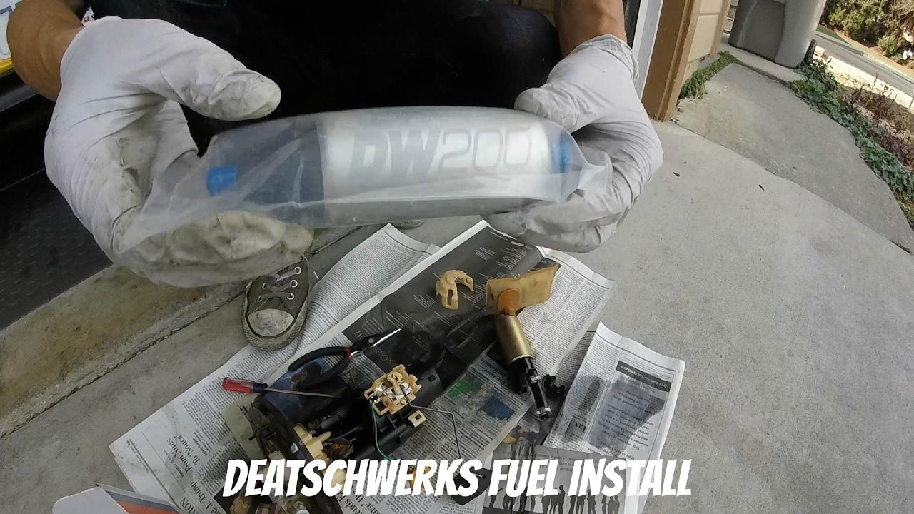 s2000 deatschwerks fuel pump install [ 1280 x 720 Pixel ]