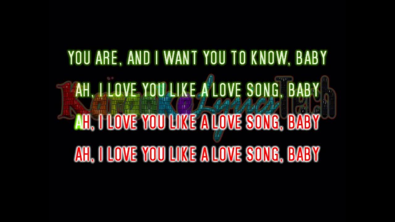 Amp the scene love you like a love song lyrics karaoke youtube
