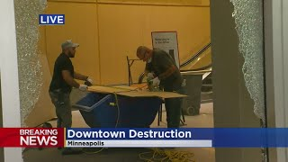 Downtown Minneapolis Shattered After Night Of Destruction, Looting