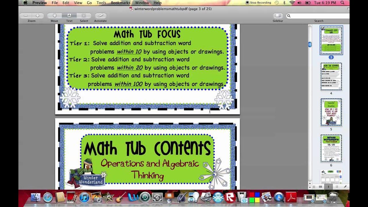 Winter Wonderland Word Problems Tiered Math Tub.mov