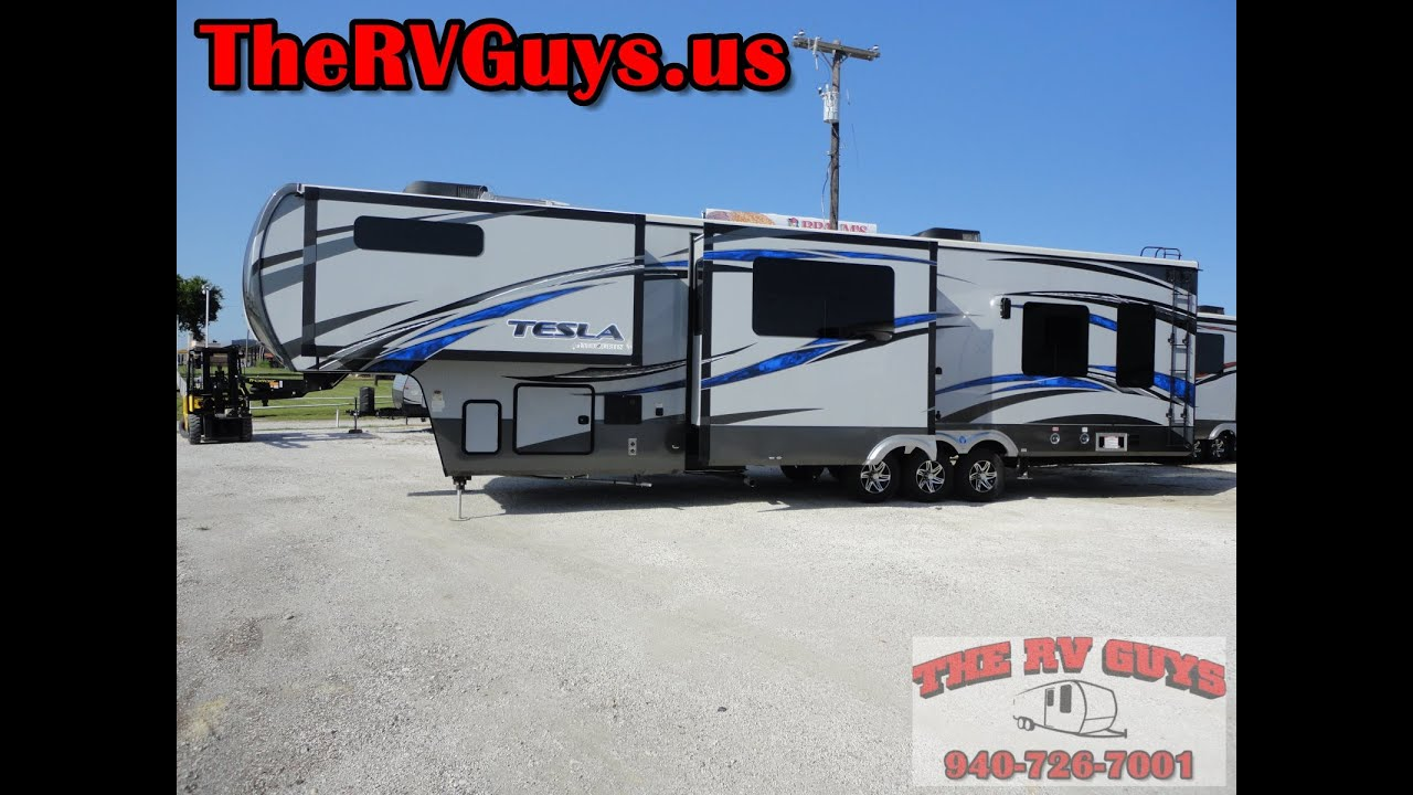 A Blow Your Mind Find 40Ft Luxury 5th Wheel Toy Hauler 2015 Tesla