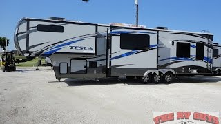 A Blow Your Mind Find! 40Ft Luxury 5th Wheel Toy Hauler! 2015 Tesla 3950