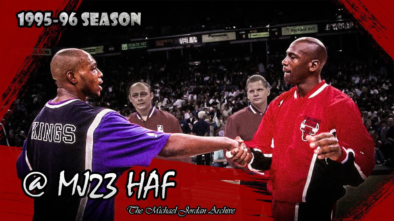 7c1f2d0aff8e78 Michael Jordan vs Mitch Richmond Highlights Bulls vs Kings (1996.02.01) -  59pts combined!