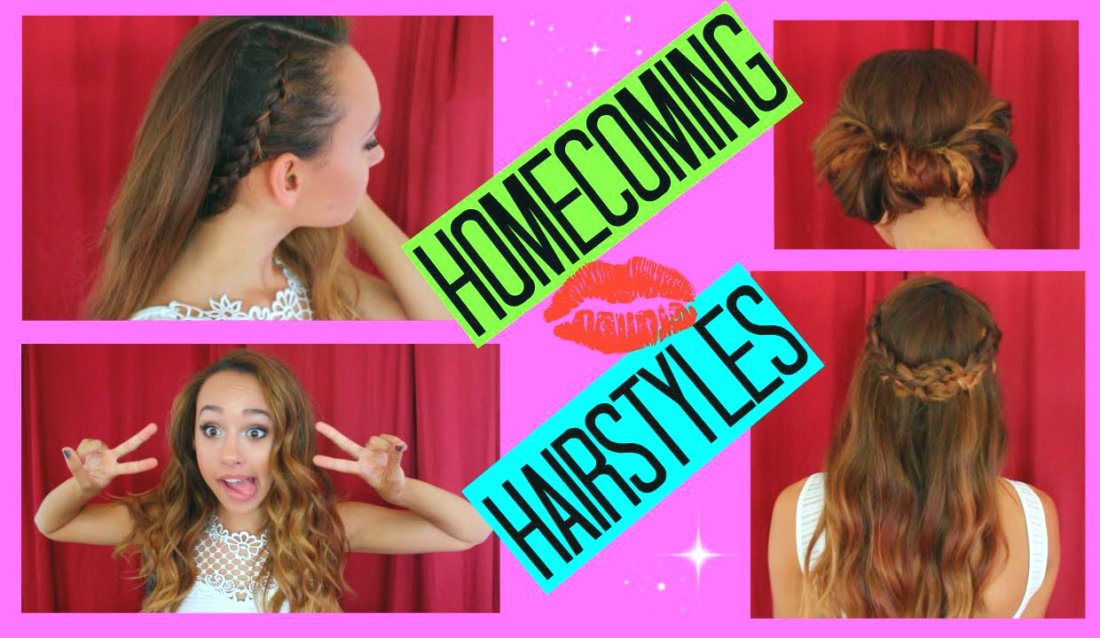 3 easy homecoming hairstyles - maddie ryles - youtube