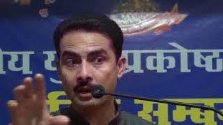 Manish Kumar (Youth Motivator) addressing the weekly seminar on 20-05-2018
