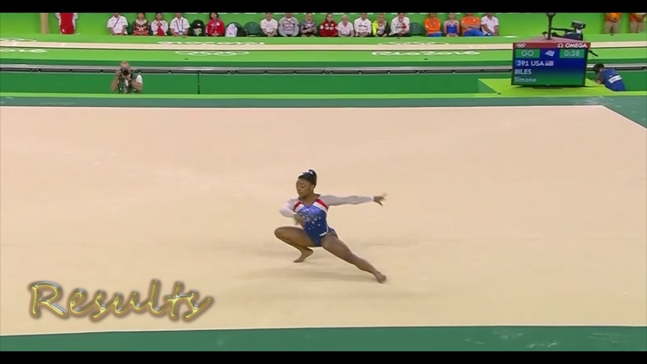 floor gymnastics olympics. simone biles floor routine exercise rio 2016 olympic gymnastics individual all-around final results - youtube olympics a