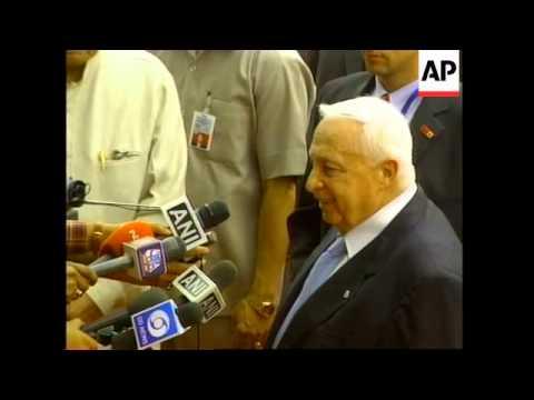 Israeli PM visits Gandhi shrine, anti-Sharon demo