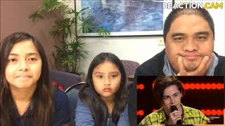 Family Reacts to Blind Audition Aydan Calafiore   Despacito   The Voice Australia 2018