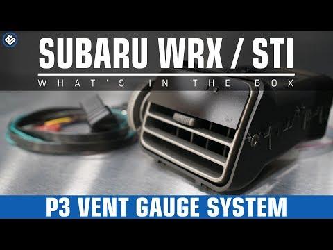 P3 Gauges Vent Gauges  Subaru 20082014 WRXSTI Forester XT 20092014
