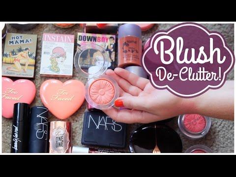 Blush De-Clutter! Makeup De-Clutter 2016