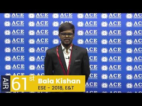 S. BALA KISHAN, All India 61st Rank in ESE 2018, Electronics & Telecommunication Engineering