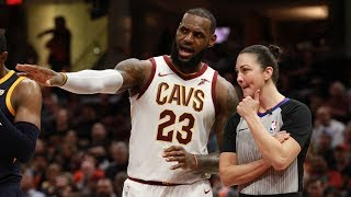 LeBron James Triple Double vs Jazz Left Handed Oop! 2017-18 Season