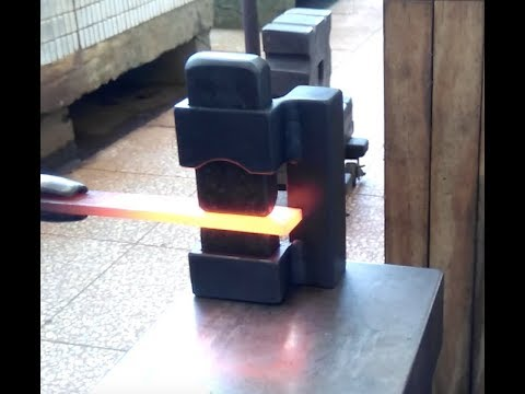 Blacksmith Guillotine Tool Blade Fuller Blood Groove