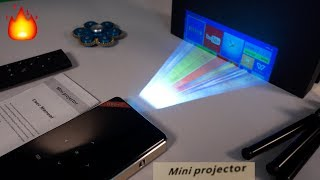 Amazing Mini DLP 4K Pocket Projector with Android - DIY Projector Screen