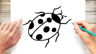 ladybug easy draw