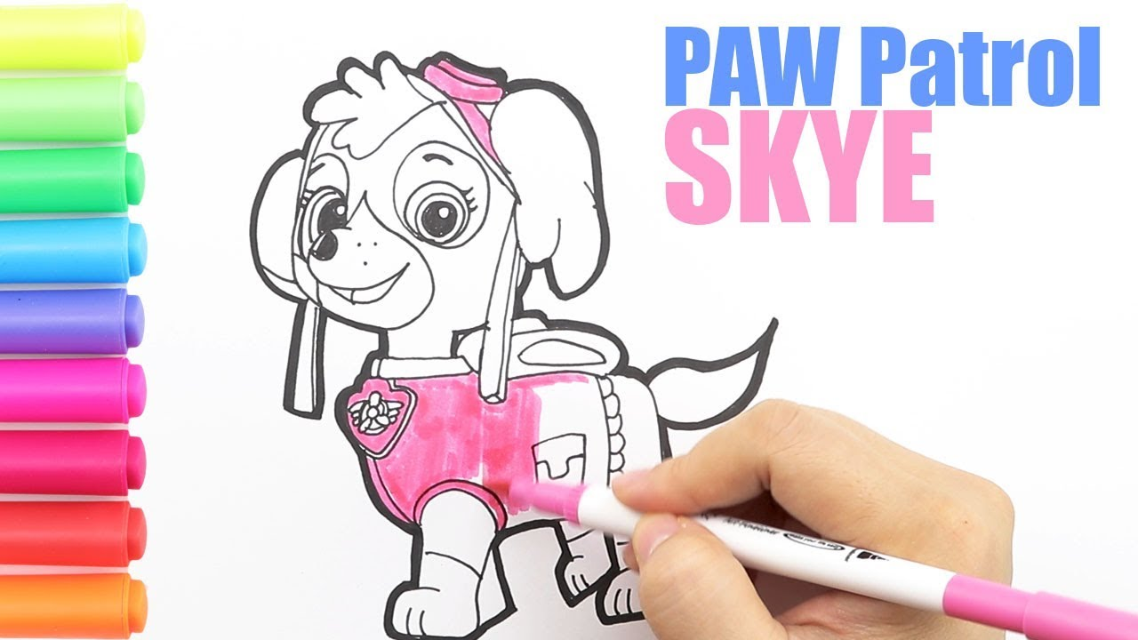 Coloring Skye Paw Patrol Coloring Page|How to draw SKYE ...