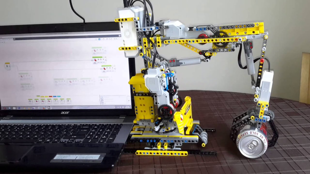 Ev3 lego robotic arm v 2 weight lifting youtube for Ev3 medium motor arm