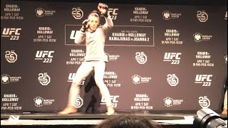 UFC 223: Joanna Jedrzejczyk Open Workout