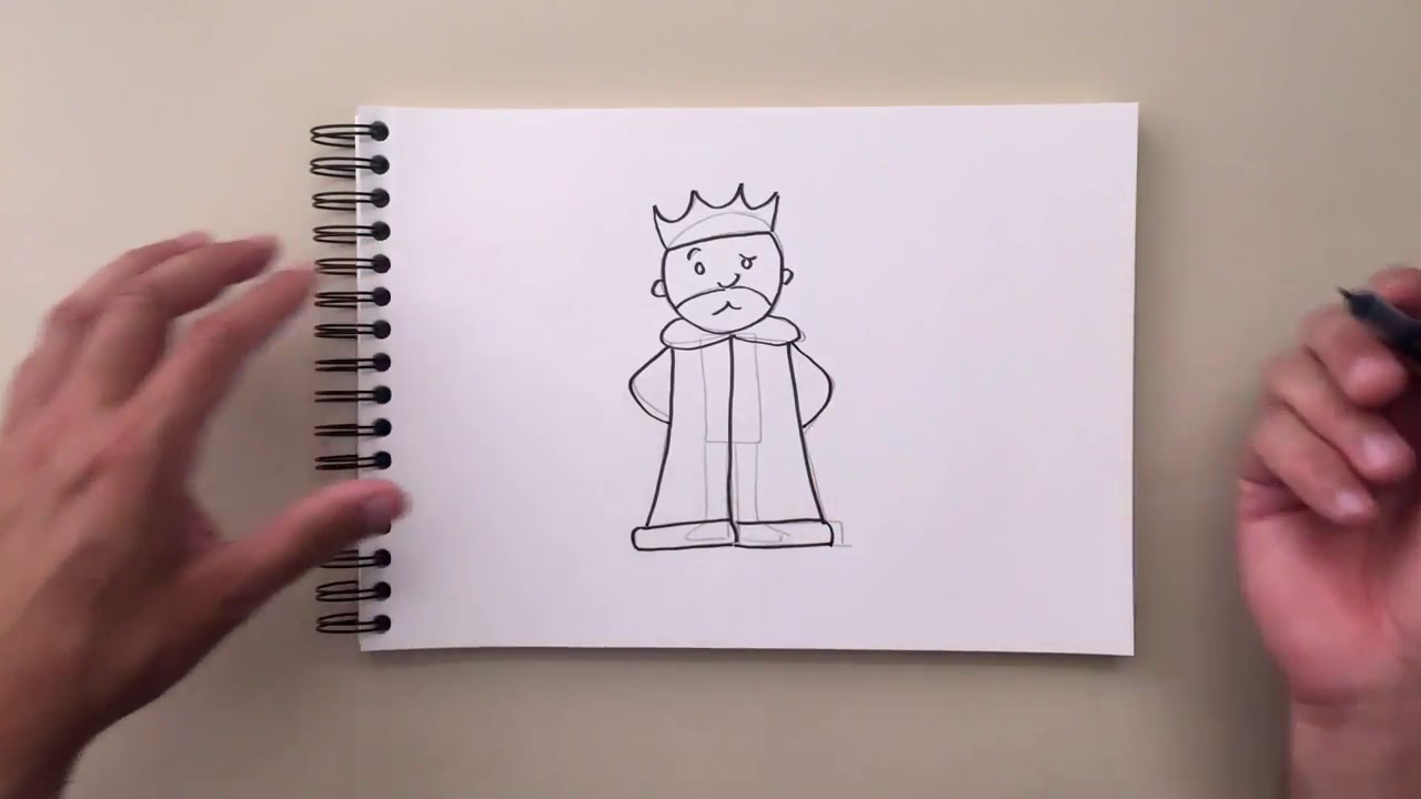 How to draw a king 17