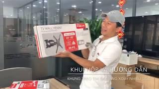Khui hộp và hướng dẫn lắp khung treo tivi đa năng Inxus xoay được nhiều hướng