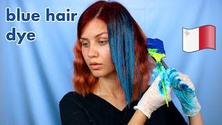 Dyeing my hair Bright Blue in MALTESE