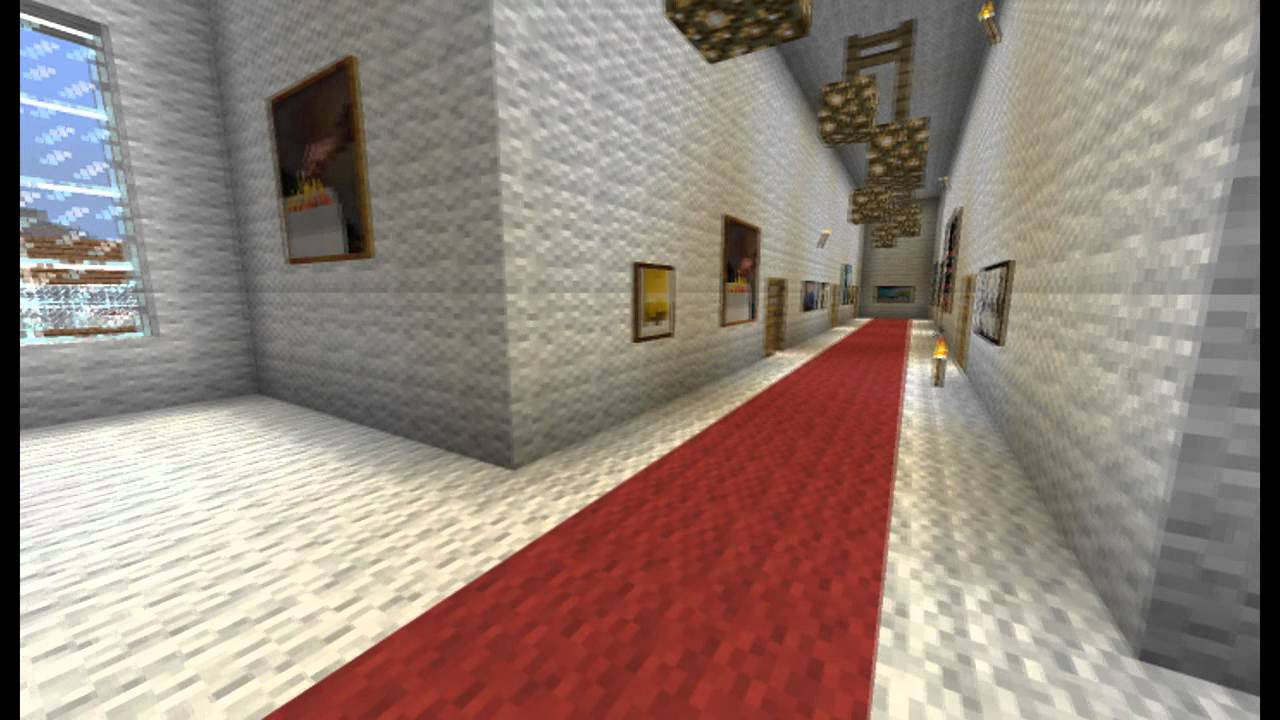 how to make a minecraft white house