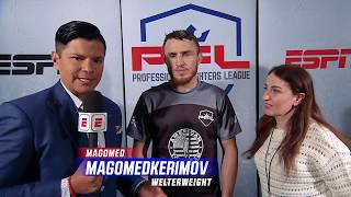 Magomed Magomedkerimov Earns A Submission Win to Start 2019 | PFL 1 2019 Post Fight Interview