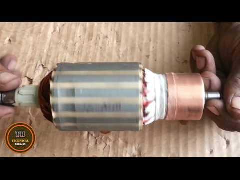 new method of 7 inch angle grinder armature winding its called single winding  part 3