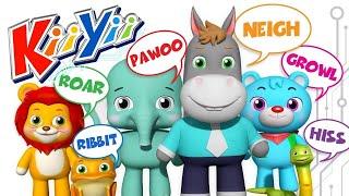 Звуки животных Еще KiiYii мультфильмы для детей детские песни