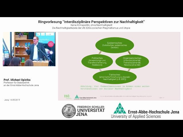 Prof. Dr. Michael Opielka, Keine Klimapolitik ohne Soziale Nachhaltigkeit, EAH/FSU Jena, 14 5 2019
