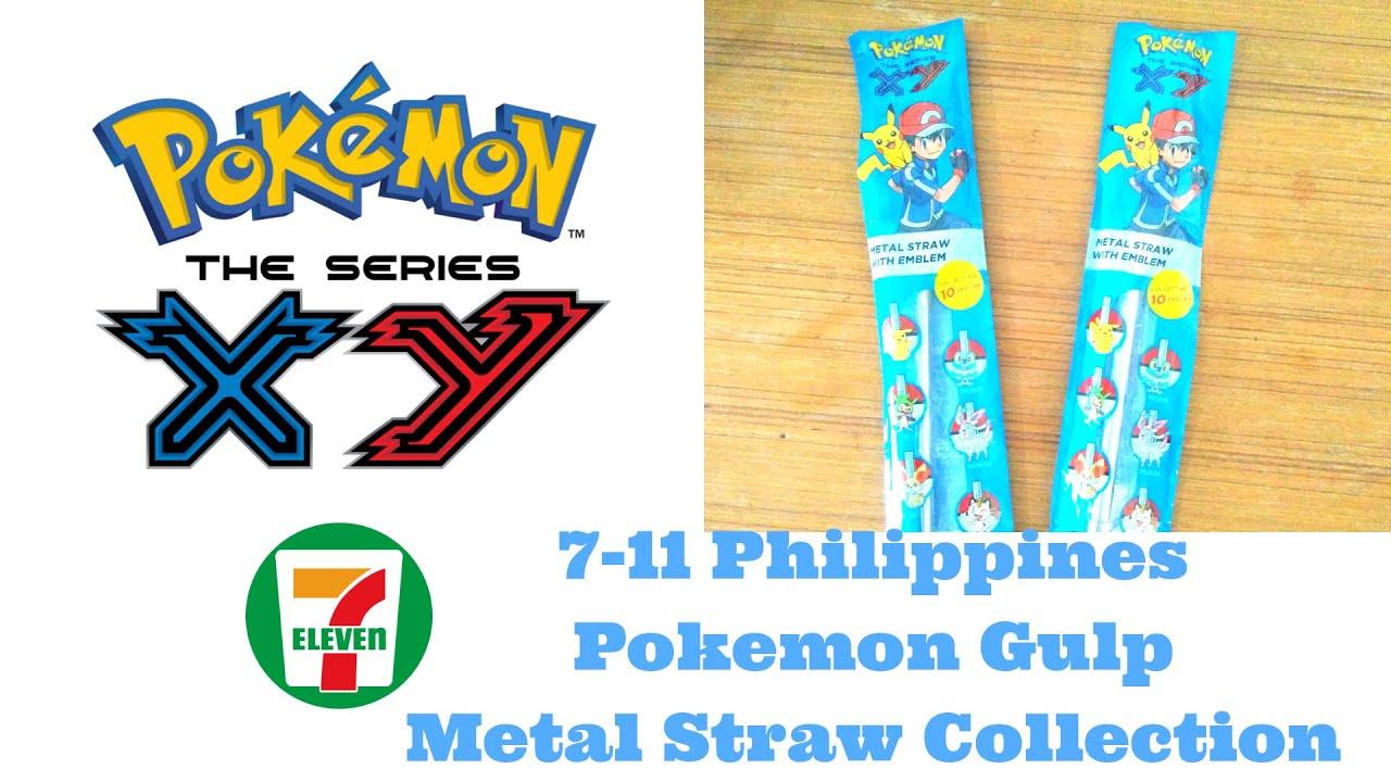2018 7 11 Philippines Gulp Pokemon Metal Straws Collection We Got