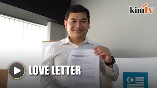 Rafizi sends letter of recommendation to Najib to declare assets