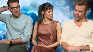 The Star Trek Beyond cast are keeping an eye on Chris Pine