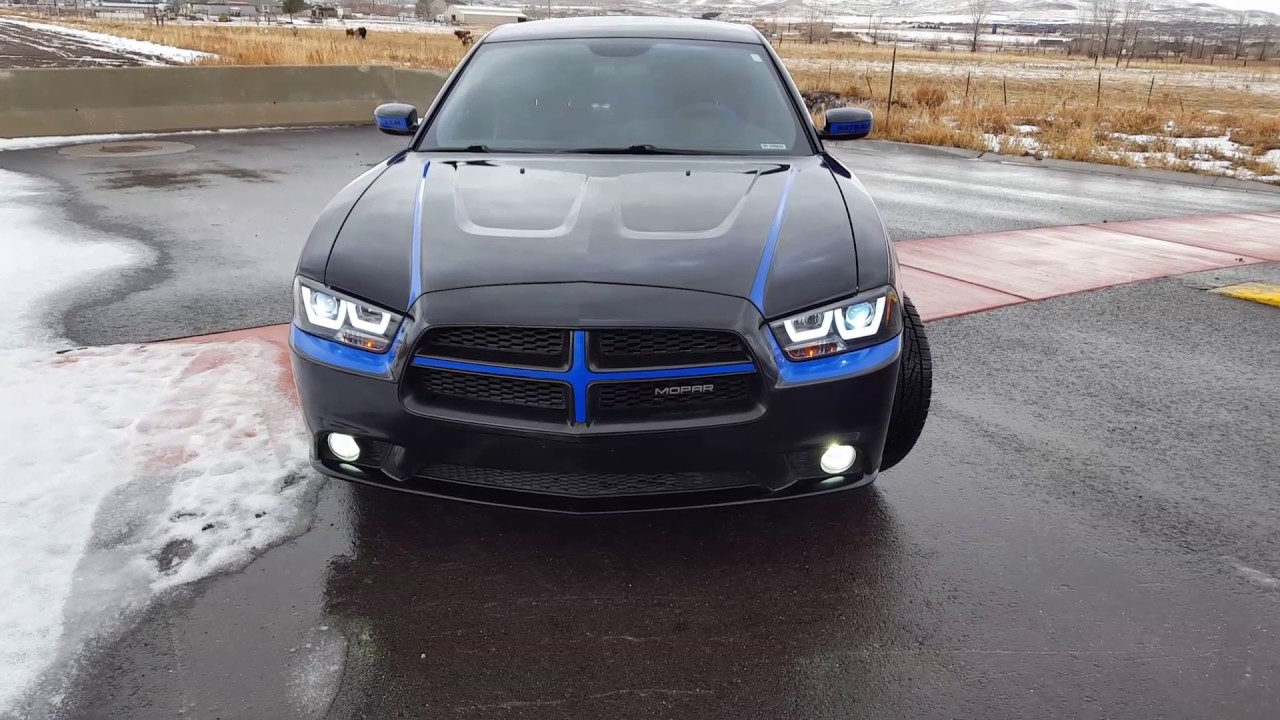 2013 Dodge Charger Se >> Spec-D Projector HID Halo Headlights On 2013 Dodge Charger SE - YouTube