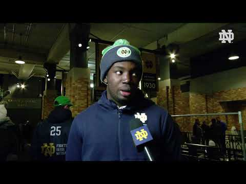 @NDFootball | Adetokunbo Ogundeji Post Game Interview vs. Fl