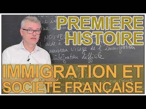 L'immigration et la société française au XXe siècle - Histoire-Géographie - 1ère - Les Bons Profs