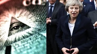 New British Prime Minister Theresa May flashes ILLUMINATI hand signal HD