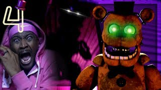 TRAPPED IN A HOUSE WITH POSSESSED ANIMATRONICS!! | Final Nights 4 w/ HEART RATE MONITOR