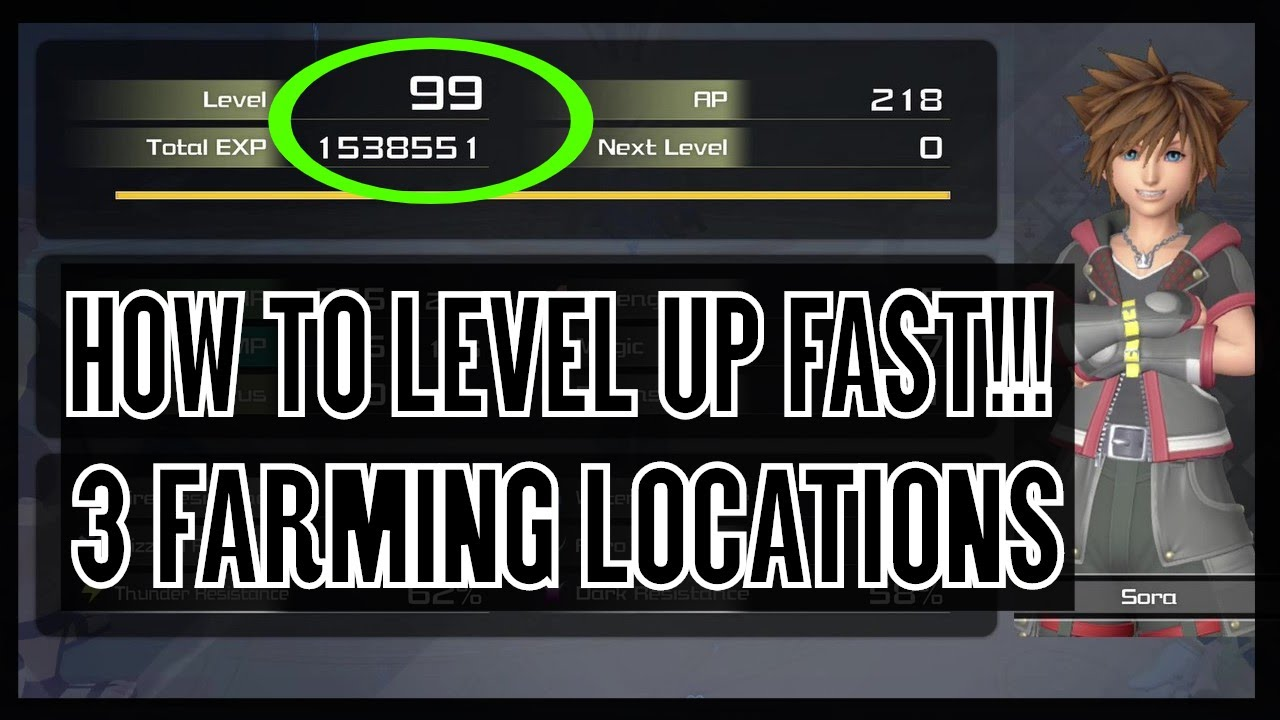 Kingdom Hearts 3 How To Level Up Fast 30 000 Xp Every 1 Minute Leveled Out Trophy Achievement Youtube