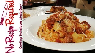 How to Make Bolognese Sauce - NoRecipeRequired.com