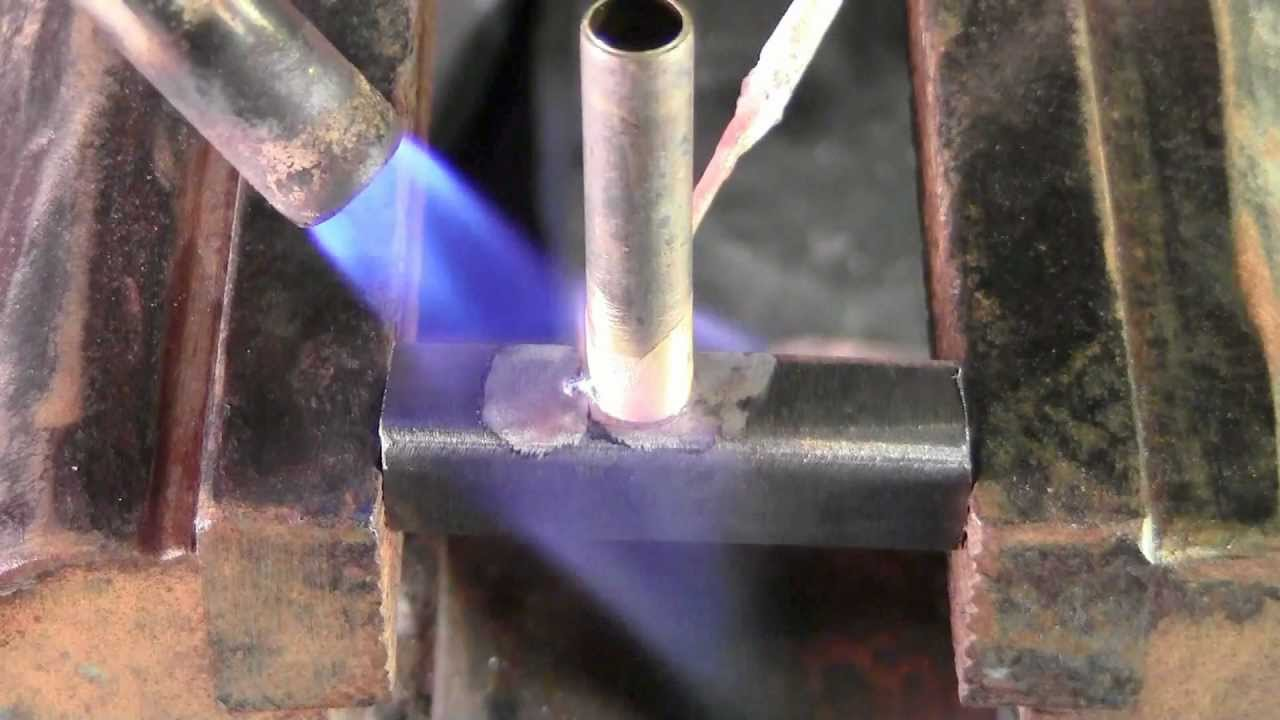 Brazing Steel To Brass With Propane Torch Youtube