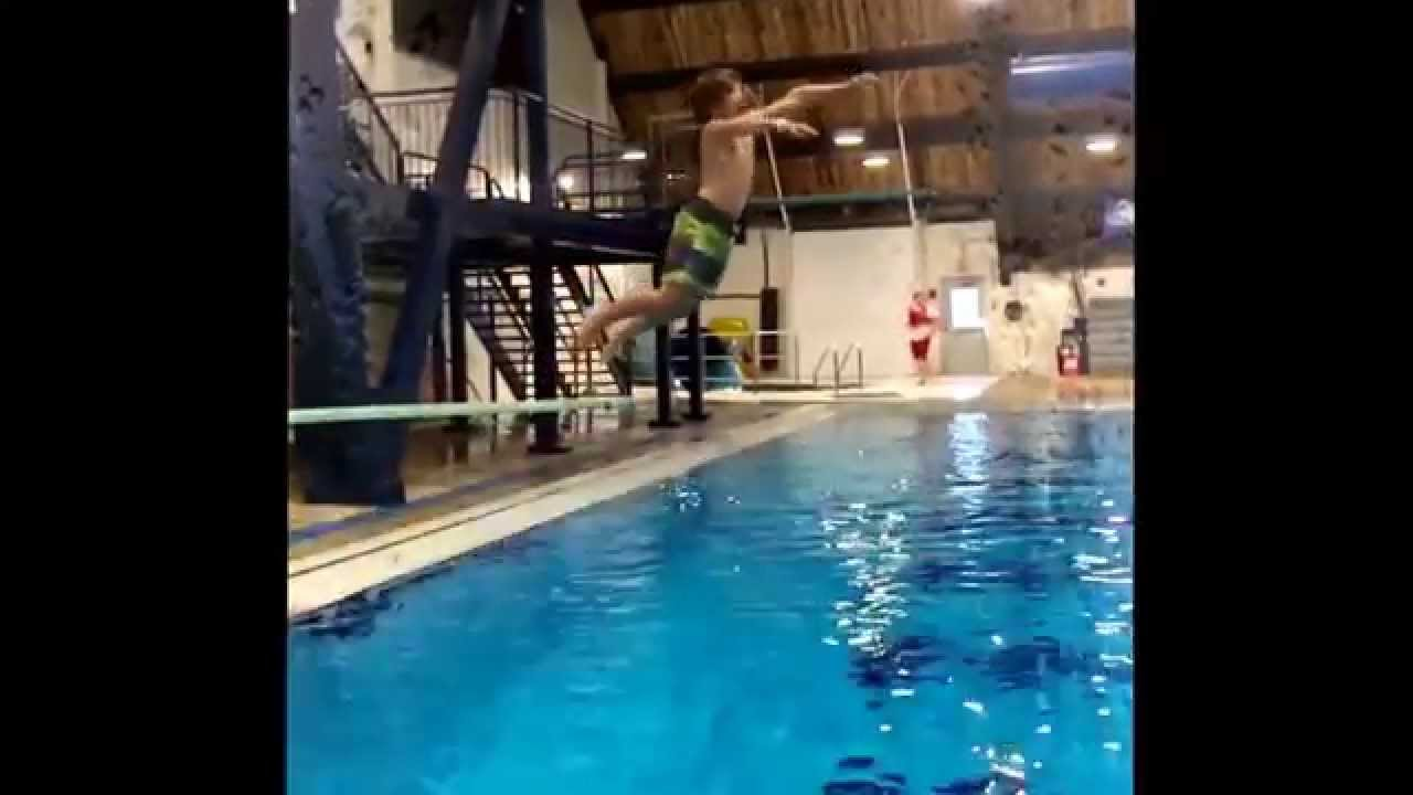 Jumping Off The Diving Boards At Wayne Gretzky Sports Centre Youtube