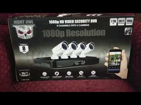 Night Owl Security System Set-up & 1080p vs 720p Comparison
