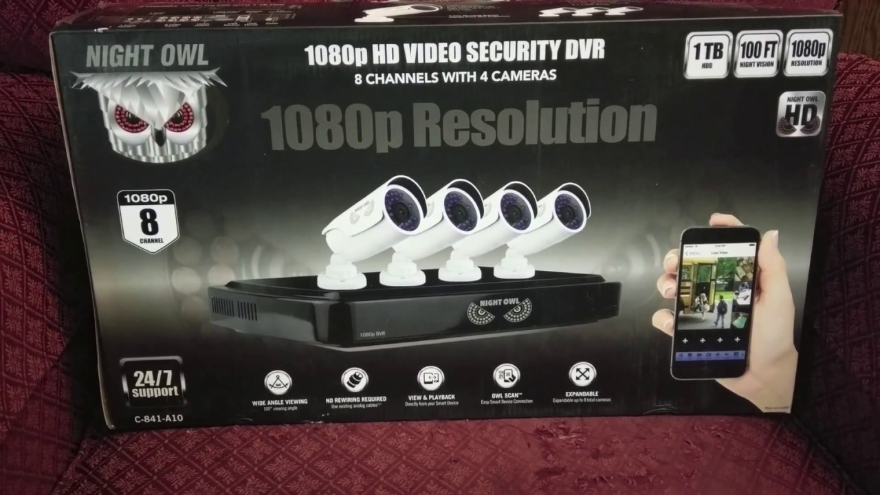 Night Owl Security System Set Up 1080p Vs 720p Comparison Youtube Dvr Wiring Diagram