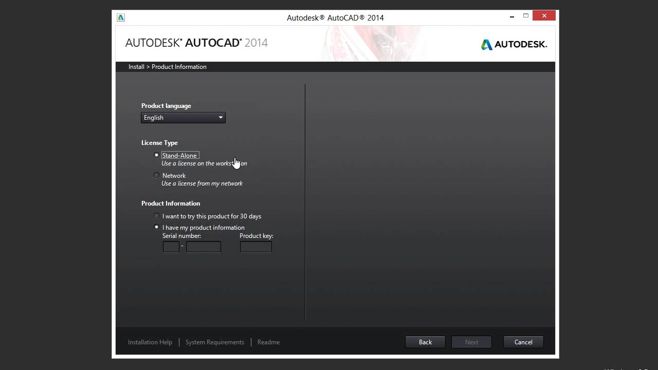 autocad 2014 serial and product key