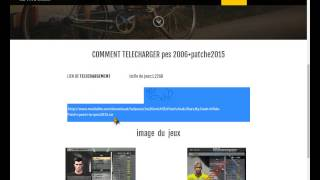 comment telecharger pes 2006 + patch 2015