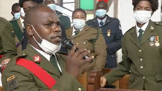 Defence and Security choir, sang a peaceful song during Kenneth Kaunda's funeral 🇿🇲🇿🇲