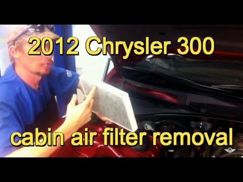 2012 Chrysler 300 Cabin Air Filter Replacement Youtube