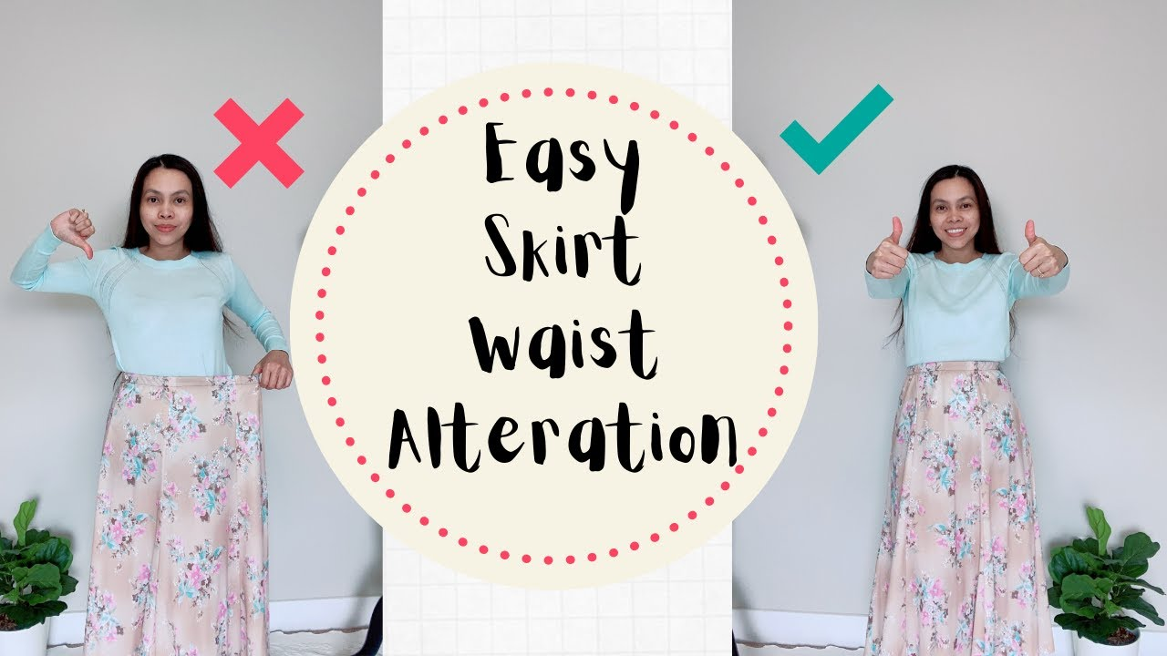 DIY: How to take in a Skirt Waist with Elastic for a perfect fit | Sewing Projects for Beginners